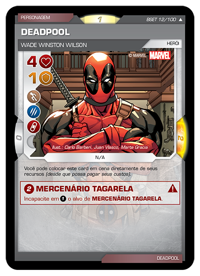Battle Scenes BSET 012 Deadpool - Incomum