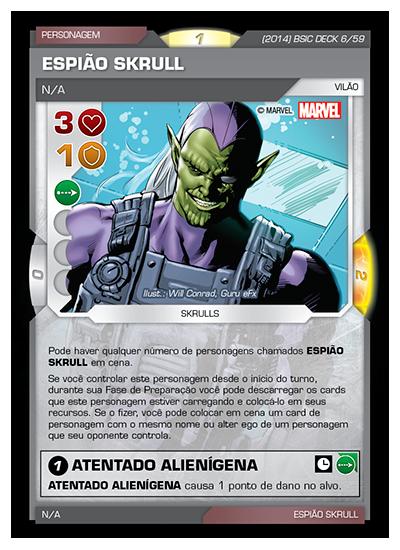 Battle Scenes BSIC DECK 006 Espião Skrull
