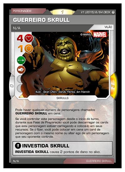 Battle Scenes BSOS DECK 008 Guerreiro Skrull
