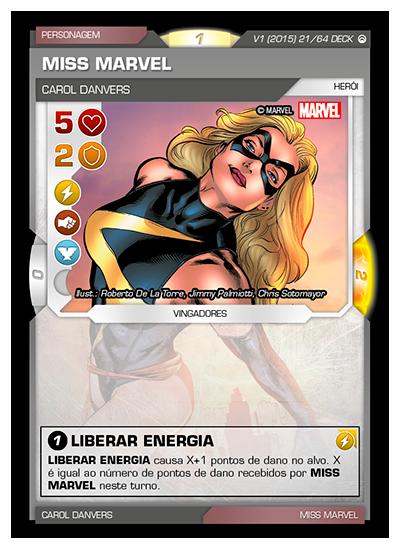 Battle Scenes BSOS DECK 021 Miss Marvel