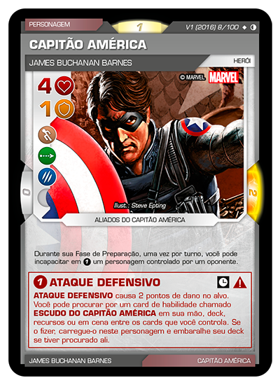 Battle Scenes BSGC 008 Capitão América - Super Raro