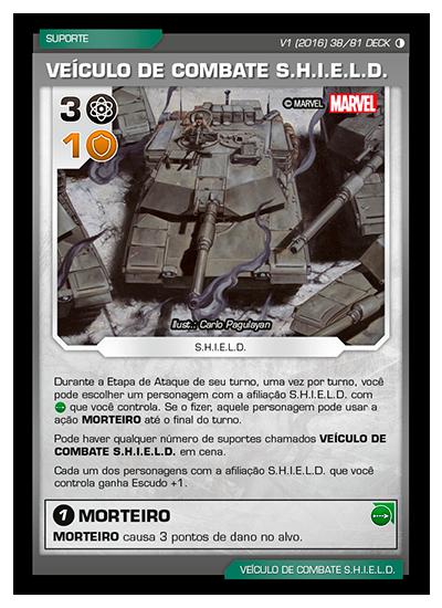 Battle Scenes BSGC DECK 038 Veículo de Combate S.H.I.E.L.D.