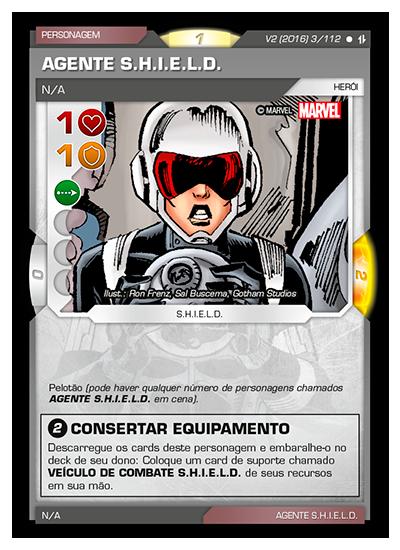 Battle Scenes BSAQ 003 Agente S.H.I.E.L.D. - Comum