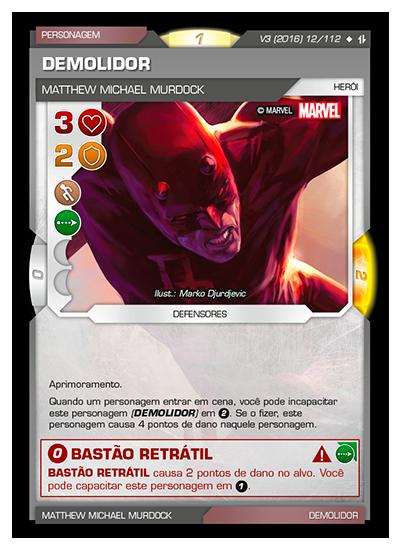 Battle Scenes BSAQ 012 Demolidor - Super Raro
