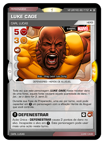 Battle Scenes BSAQ 032 Luke Cage - Super Raro