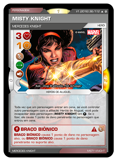 Battle Scenes BSAQ 038 Misty Knight - Incomum