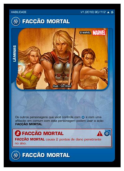 Battle Scenes BSAQ 090 Facção Mortal - Incomum