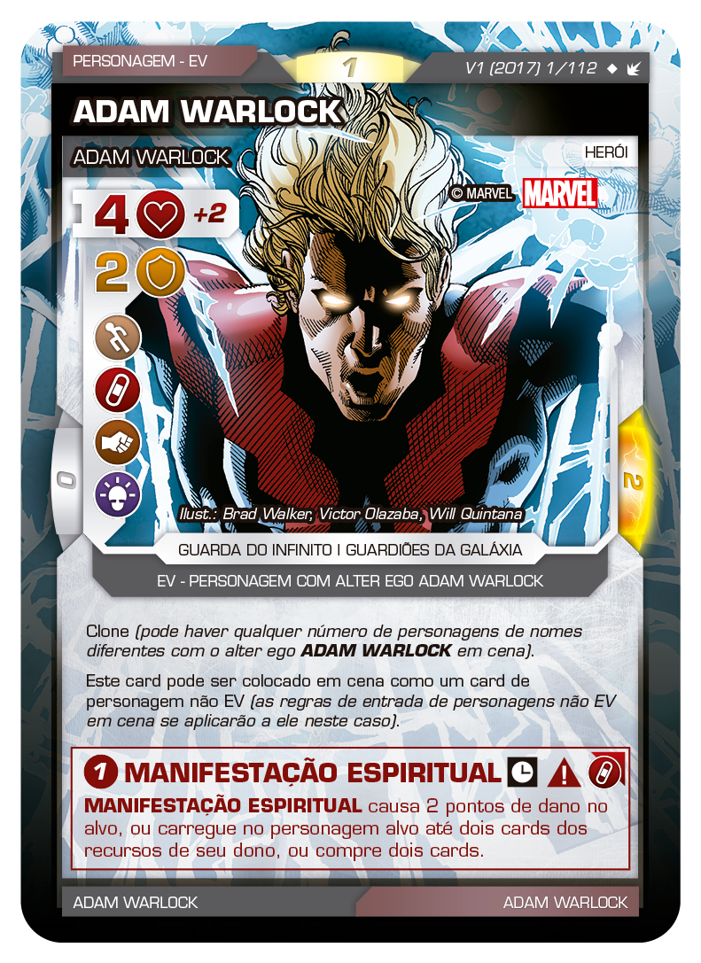 Battle Scenes BSFE 001 Adam Warlock - Super Raro