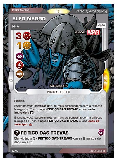Battle Scenes BSCA DECK 008 Elfo Negro - foil