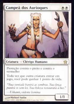 Magic the Gathering A Quinta Aurora 003 Campeão dos Aurioques - Auriok Champion - Raro - Branco