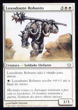 Magic the Gathering A Quinta Aurora 011 Loxodonte Robusto - Loxodon Stalwart - Incomum - Branco