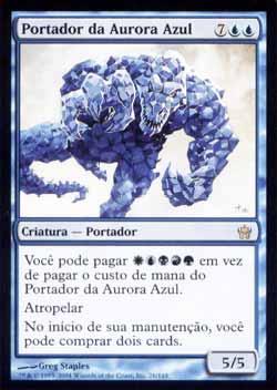 Magic the Gathering A Quinta Aurora 026 Portador da Aurora Azul - Bringer of the Blue Dawn - Raro - Azul