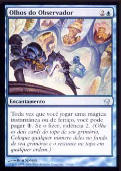 Magic the Gathering A Quinta Aurora 030 Olhos do Observador - Eyes of the Watcher - Incomum - Azul