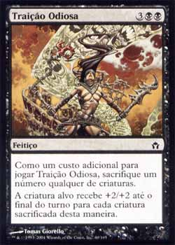 Magic the Gathering A Quinta Aurora 060 Traição Odiosa - Vicious Betrayal - Comum - Preto