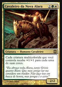 Magic the Gathering Alara Reunida 070 Cavaleiro da Nova Alara - Knight of New Alara - Raro - Multicor