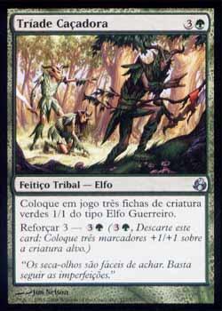 Magic the Gathering Alvorecer 127 Tríade Caçadora - Hunting Triad - Incomum - Verde - Card em Espanhol