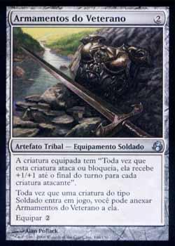 Magic the Gathering Alvorecer 146 Armamentos do Veterano - Veteran´s Armaments - Incomum - Artefato - Card em Russo