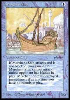 Magic the Gathering Arabian Nights 017 Merchant Ship - Incomum - Azul - Card em Inglês
