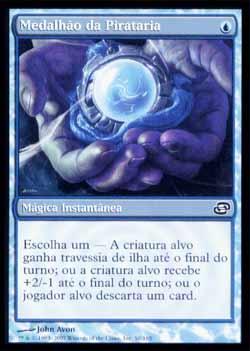 Magic the Gathering Caos Planar 058 Medalhão da Pirataria - Piracy Charm - Comum - Azul