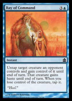 Magic the Gathering Commander 056 Raio de Comando - Ray of Command - Comum - Azul - Card em Inglês
