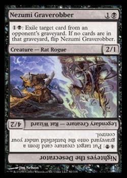 Magic the Gathering Commander 092 Ladrão de Túmulos Nezumi - Nezumi Graverobber - Incomum - Preto - Card em Inglês