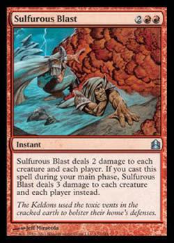 Magic the Gathering Commander 137 Explosão Sulfurosa - Sulfurous Blast - Incomum - Vermelho - Card em Inglês
