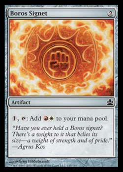 Magic the Gathering Commander 243 Sinete Boros - Boros Signet - Comum - Artefato - Card em Inglês