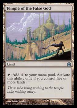 Magic the Gathering Commander 290 Templo do Falso Deus - Temple of the False God - Incomum - Terreno - Card em Inglês
