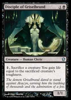 Magic the Gathering Commander 2013 074 Discípulo de Griselbrand - Disciple of Griselbrand - Incomum - Preto