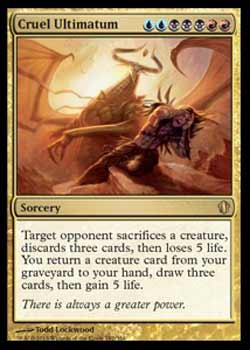 Magic the Gathering Commander 2013 182 Ultimato Cruel - Cruel Ultimatum - Raro - Multicor