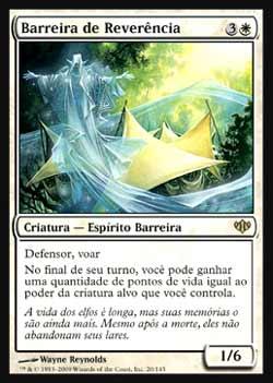 Magic the Gathering Conflux 020 Barreira de Reverência - Wall of Reverence - Raro - Branco