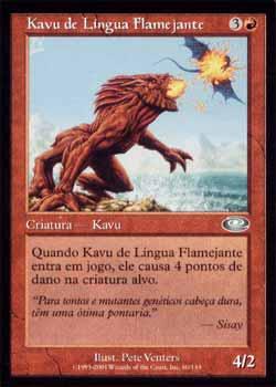 Magic the Gathering Conjunção 060 Kavu de Língua Flamejante - Flametongue Kavu - Incomum - Vermelho