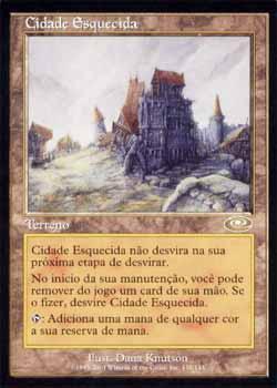 Magic the Gathering Conjunção 139 Cidade Esquecida - Forsaken City - Raro - Terreno