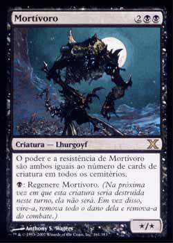 Magic the Gathering Décima Edição 161 Mortívoro - Mortivore - Raro - Preto