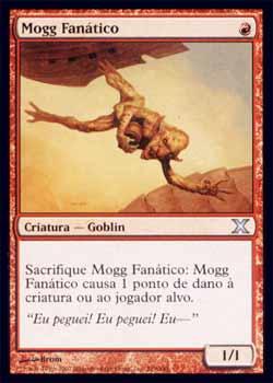 Magic the Gathering Décima Edição 219 Mogg Fanático - Mogg Fanatic - Incomum - Vermelho - card em Russo
