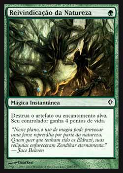 Magic the Gathering Despertar do Mundo 108 Reivindicação da Natureza - Nature´s Claim - Comum - Verde
