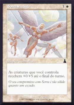 Magic the Gathering Destino de Urza 020 Solidariedade - Solidarity - Comum - Branco
