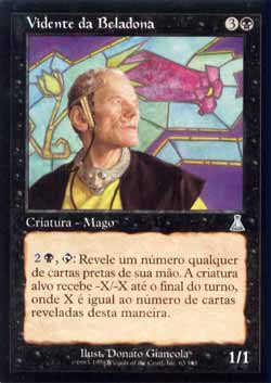 Magic the Gathering Destino de Urza 063 Vidente da Beladona - Nightshade Seer - Incomum - Preto