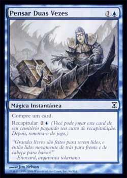Magic the Gathering Espiral Temporal 086 Pensar Duas Vezes - Think Twice - Comum - Azul