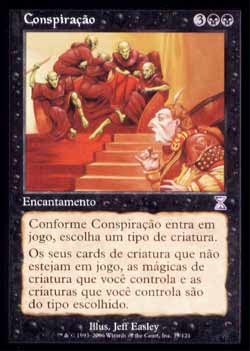 Magic the Gathering Espiral Temporal - Timeshift 039 Conspiração - Conspiracy - Timeshift - Preto