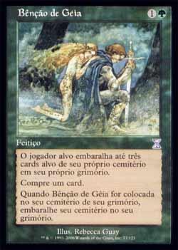 Magic the Gathering Espiral Temporal - Timeshift 077 Bênção de Géia - Gaea´s Blessing - Timeshift - Verde