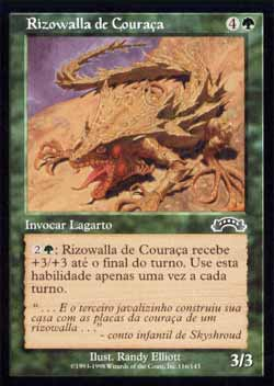 Magic the Gathering Êxodo 116 Rizowalla de Couraça - Plated Rootwalla - Comum - Verde - card em Francês