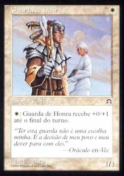Magic the Gathering Fortaleza 007 Guarda de Honra - Honor Guard - Comum - Branco