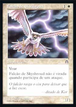 Magic the Gathering Fortaleza 016 Falcão de Skyshroud - Skyshroud Falcon - Comum - Branco - card em chinês