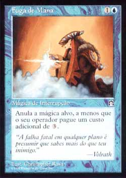 Magic the Gathering Fortaleza 036 Fuga de Mana - Mana Leak - Comum - Azul