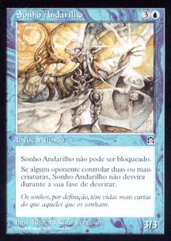 Magic the Gathering Fortaleza 049 Sonho Andarilho - Walking Dream - Incomum - Azul