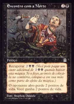 Magic the Gathering Fortaleza 052 Encontro com a Morte - Brush With Death - Comum - Preto