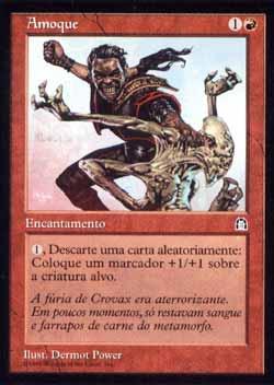 Magic the Gathering Fortaleza 076 Amoque - Amok - Raro - Vermelho