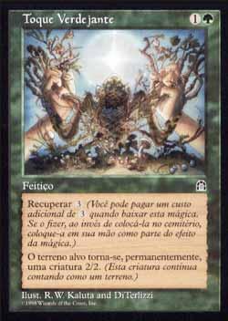 Magic the Gathering Fortaleza 123 Toque Verdejante - Verdant Touch - Raro - Verde