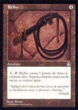 Magic the Gathering Fortaleza 132 Relho - Bullwhip - Incomum - Artefato